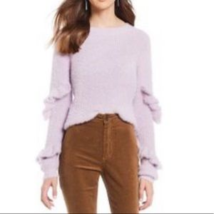 NEW! Chelsea & Violet Lilac fuzzy sweater